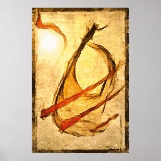 Música do vento - poster da arte abstracta