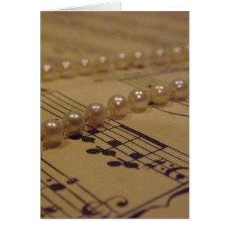 Música e cartão das pérolas