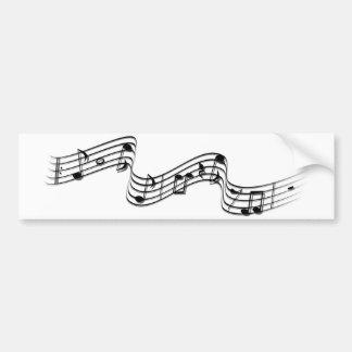música no ar adesivo para carro