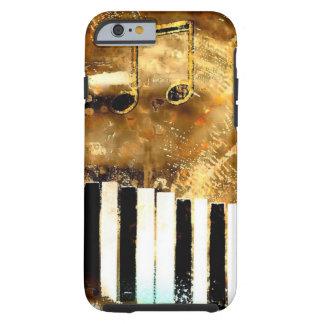 Música & notas elegantes do piano capa tough para iPhone 6