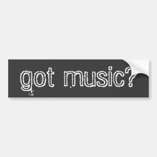 música obtida? adesivo para carro