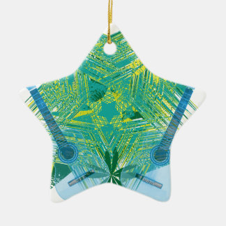 musica ornamento de cerâmica estrela
