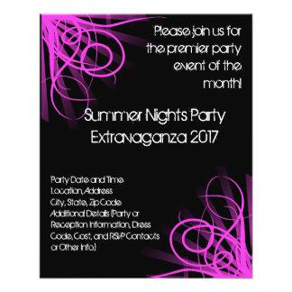 Música preta e cor-de-rosa, DJ ou aviador do event Panfleto