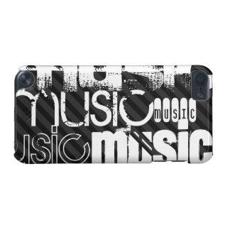 Música; Preto & obscuridade - listras cinzentas Capa Para iPod Touch 5G