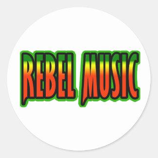 Música rebelde adesivos em formato redondos