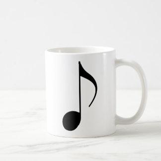 musical-nota preta caneca de café