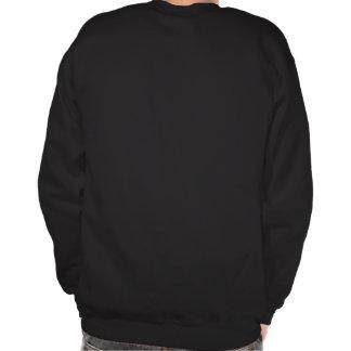 Músico do jogador de saxofone na camisola escura suéter
