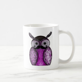 Mustache Owl Caneca