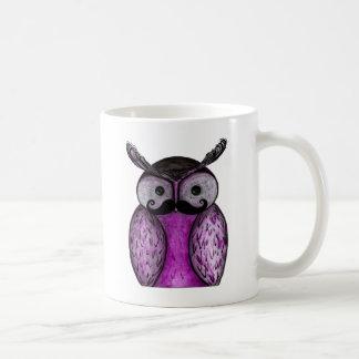 Mustache Owl Caneca De Café