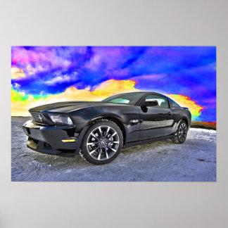 Mustang do carro do músculo do automóvel poster