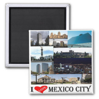 MX - México - Cidade do México - colagem do Ímã Quadrado