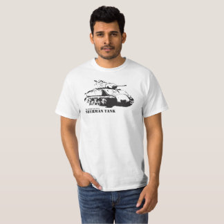 My other car is a Sherman Tank T-shirt - white