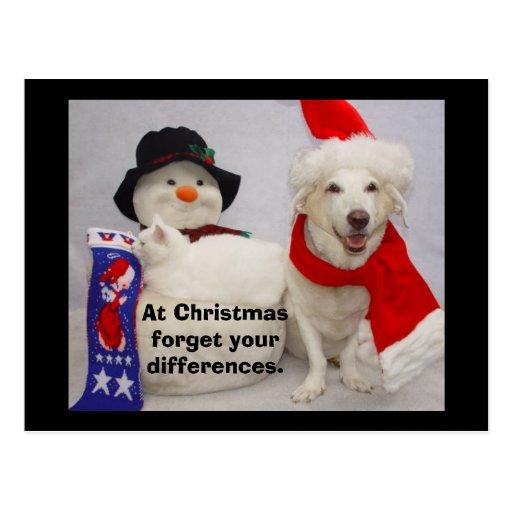 Myrtie & cartão do Natal da senhorita Cartões Postais