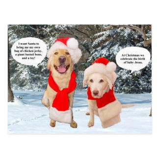 Myrtie & Moses no Natal Cartão Postal