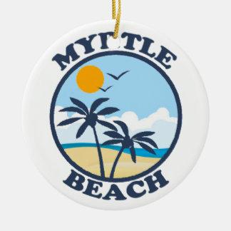 Myrtle Beach. Ornamento De Cerâmica Redondo