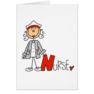 N é para a enfermeira cartão comemorativo
