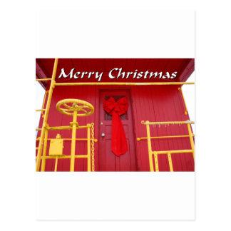 NA138.Merry Christmas.7x5. Cartão Postal
