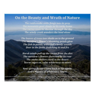 Na beleza e no Wrath do poster da natureza