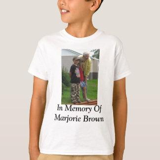 Na memória de Marjorie Brown Tshirt