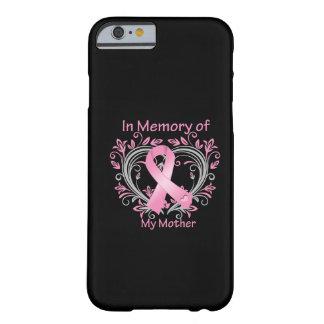 Na memória de meu coração do cancro da mama da mãe capa barely there para iPhone 6