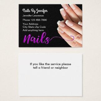Na moda do Manicure das unhas Cartão De Visitas