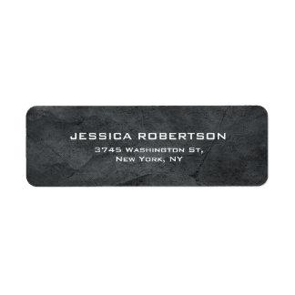 Na moda moderno elegante liso cinzento etiqueta endereço de retorno