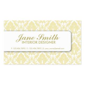 Na moda profissional retro floral do damasco cartão de visita