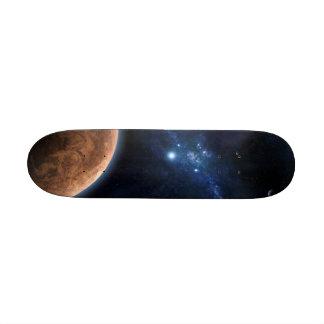 Na parte superior do universo shape de skate 21,6cm