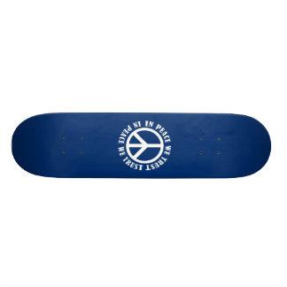 Na paz nós confiamos shape de skate 18,4cm