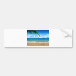na praia adesivo para carro