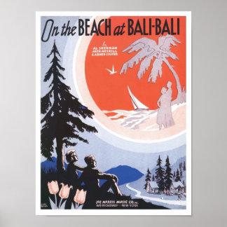 Na praia no cobrir do cancioneiro de Bali Bali Poster