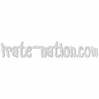 Nação irado camisa bordada jaqueta