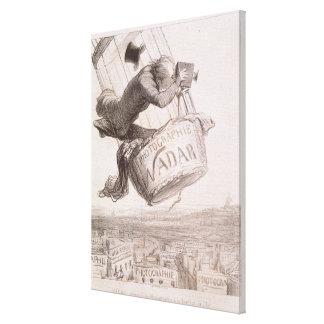 Nadar (1820-1910) que eleva a fotografia ao hei impressão de canvas esticadas