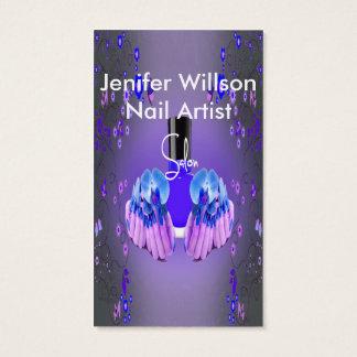 Nail Artist Salon Cartão De Visitas