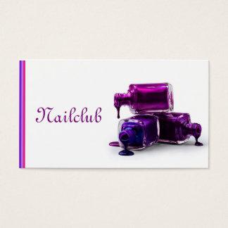 Nailclub pink and white cartão de visita