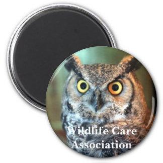 nala, associação do cuidado dos animais selvagens ímã redondo 5.08cm