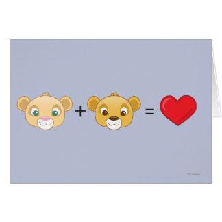 Nala+Simba=Love Cartão