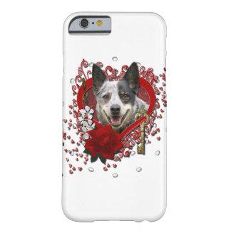 Namorados - chave a meu coração - cão australiano capa barely there para iPhone 6