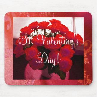 Namorados das rosas vermelhas II Mousepad- customi