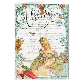 Namorados de Marie Antoinette Cartão Comemorativo