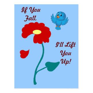 Namorados do Bluebird Cartão Postal