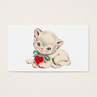 Namorados do dia dos namorados do gato do vintage cartão de visitas