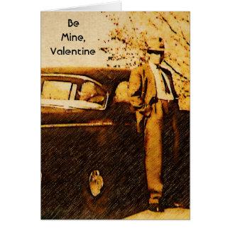 Namorados do vintage - cavalheiro Debonair no Cartão Comemorativo