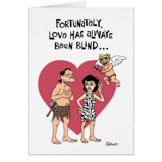 Namorados engraçados dos desenhos animados cartão comemorativo