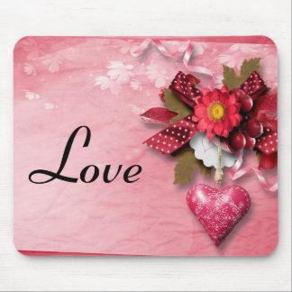 Namorados Mousepad do coração e da flor