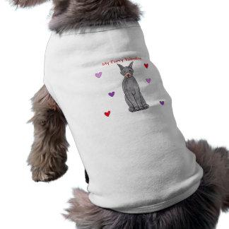Namorados peludos do preto do Pinscher do Doberman Camisa Sem Mangas Para Cachorro