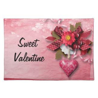 Namorados Placemat do coração e da flor Suporte Para Pratos