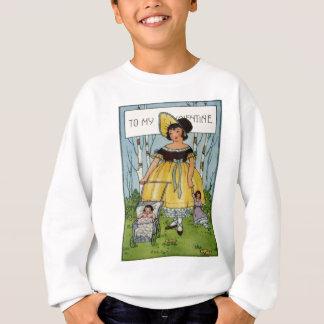 Namorados retros C do carrinho de criança da Camiseta