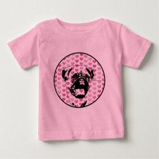 Namorados - silhueta do Pug Camiseta
