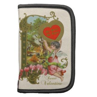 Namorados w/Cupid do Victorian, corações de sangra Agendas